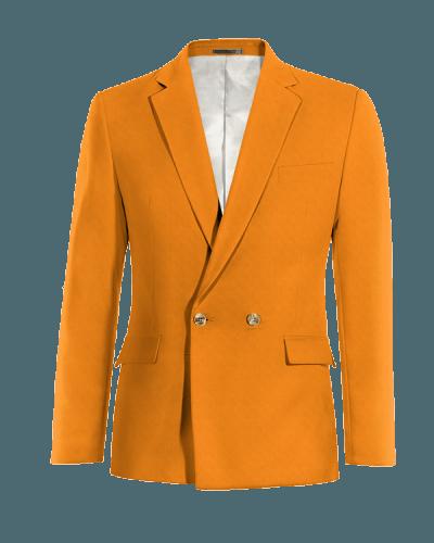 Orangefarbene zweireihiges Sakko aus Baumwolle