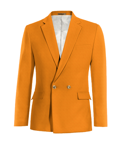Orange double breasted cotton Blazer