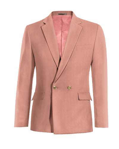 Pink double breasted cotton Blazer