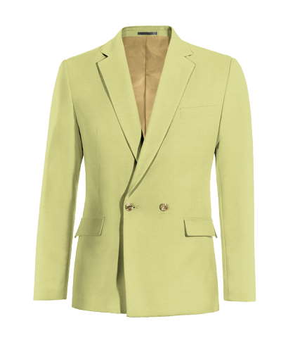 Green double breasted cotton Blazer