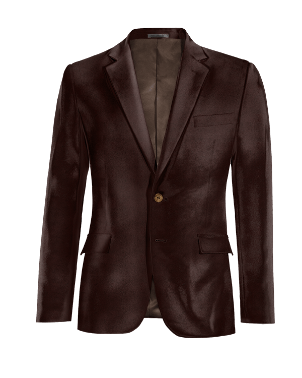Veste marron en Velours