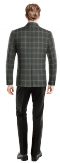 Americana gris a cuadros de lana-Vista Trasera