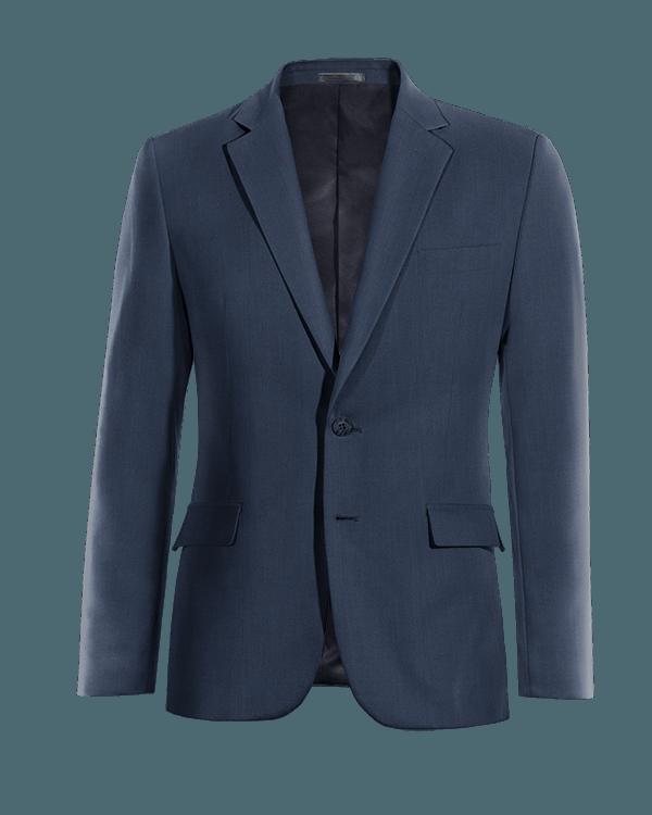 Giacca blu 100% lana