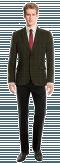 Grünes kariertes Sakko aus tweed-Ansicht Vorderseite