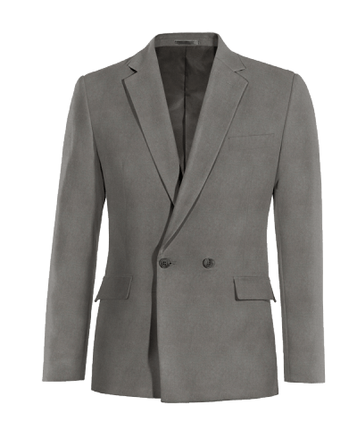 Grey double breasted linen Blazer