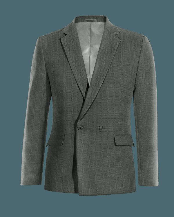 Grey double breasted wool Blazer