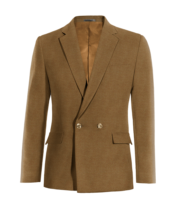 Braunes zweireihiges Sakko aus Wolle