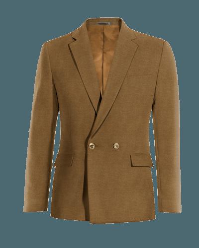 Blazer doppiopetto marrone 100% lana