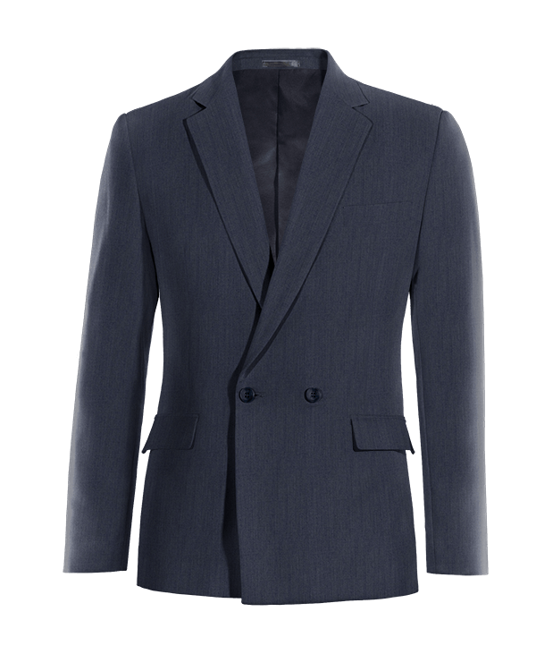 Blue double breasted linen Blazer
