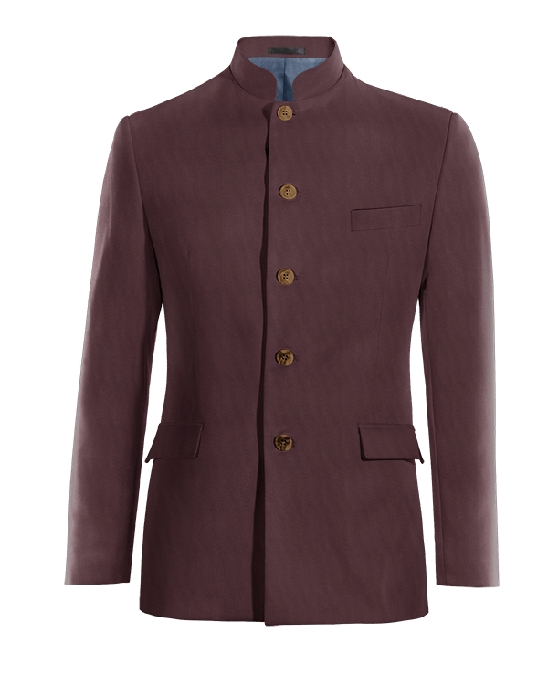 Red Nehru wool Blazer