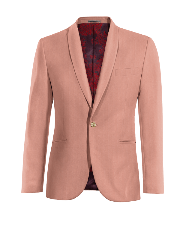 Pink cotton Blazer