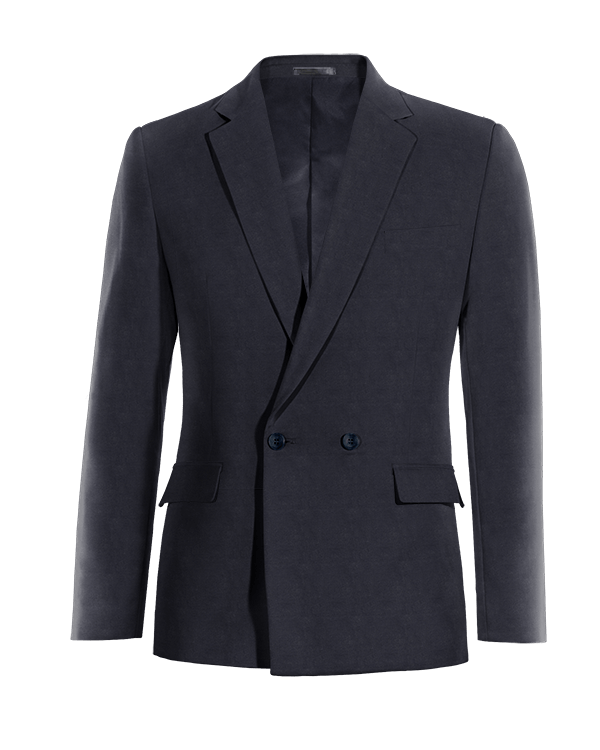 Blue double breasted cotton Blazer