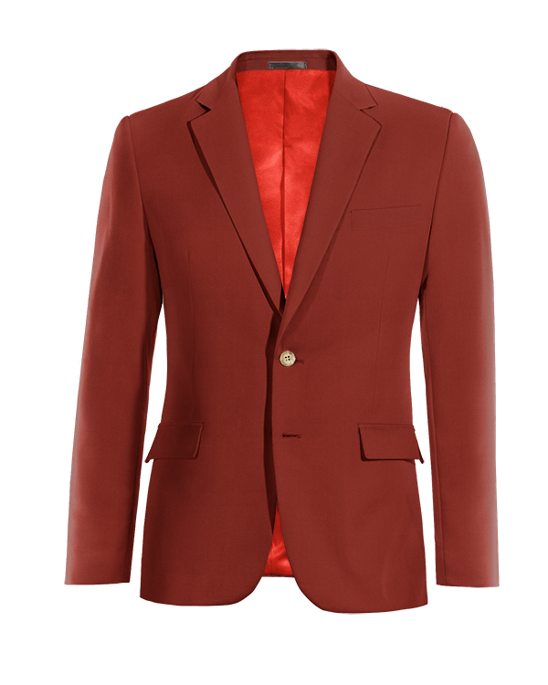 Red cotton Blazer