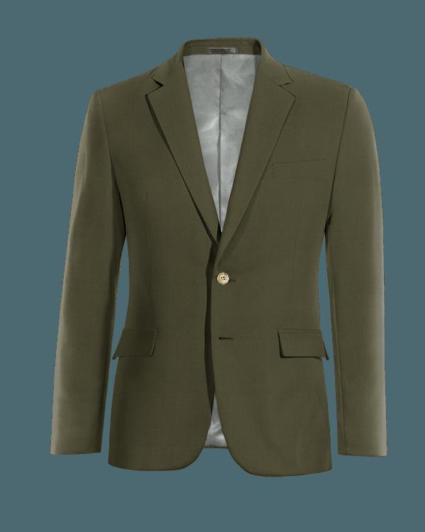 Grünes Sakko aus Baumwolle