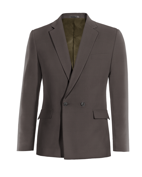 Grey double breasted cotton Blazer