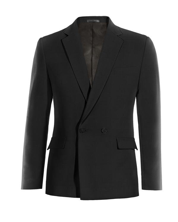 Black double breasted cotton Blazer