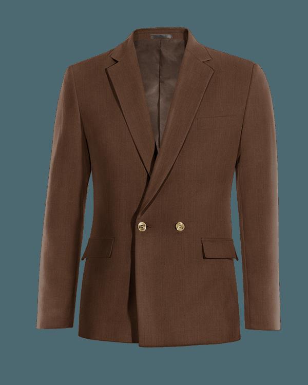 Blazer doppiopetto marrone di Lino
