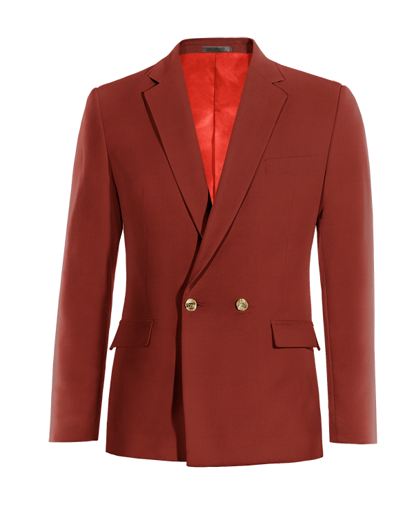 Red double breasted cotton Blazer