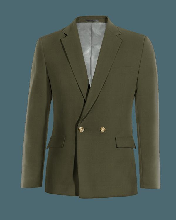 Blazer doppiopetto verde di Cotone