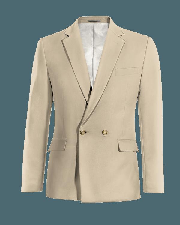 Beige double breasted cotton Blazer