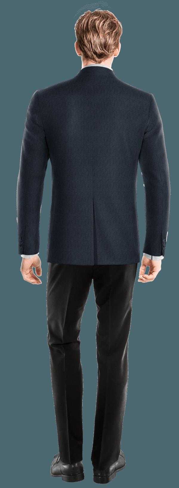 Blue striped Merino wool Blazer