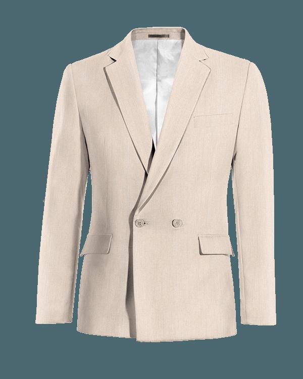 Beige double breasted wool Blazer