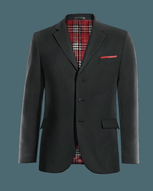 Black Merino wool Blazer