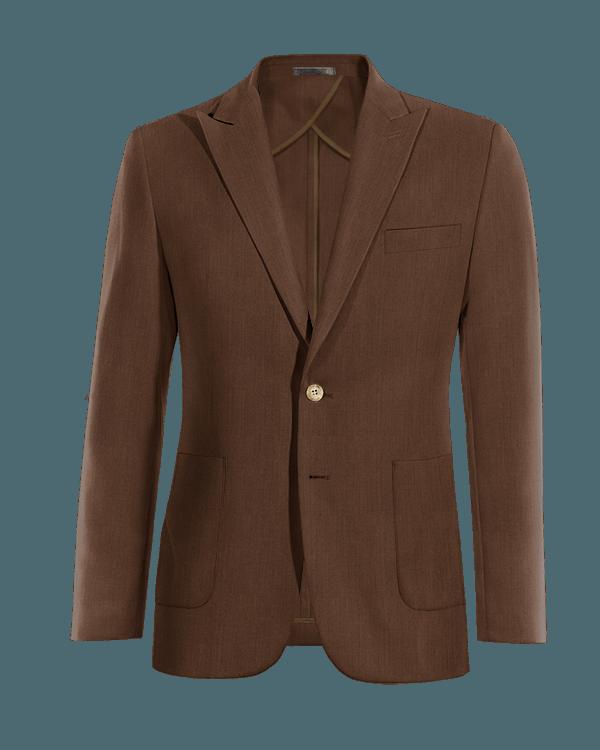 Giacca marrone di Lino