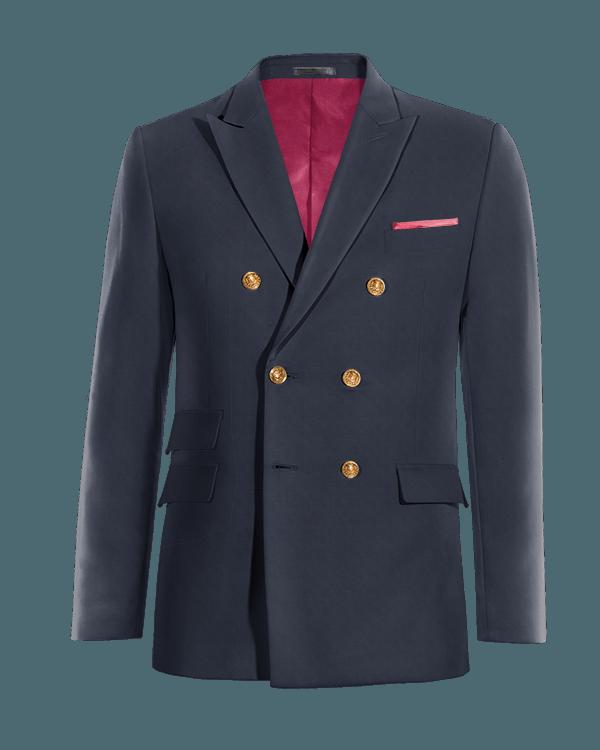 Blazer azul cruzado de lana