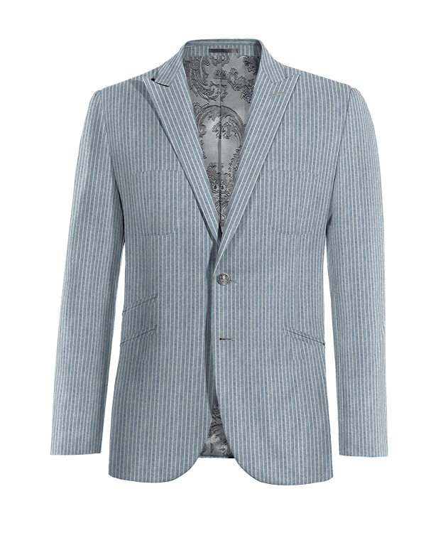 Blue striped linen Blazer