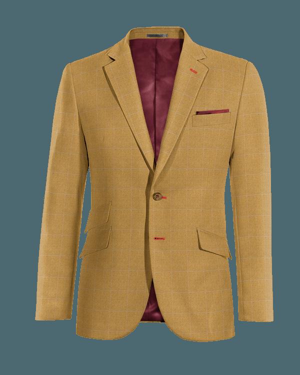 Brown checked wool Blazer