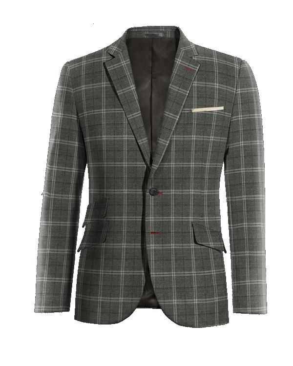 Grey checked wool Blazer