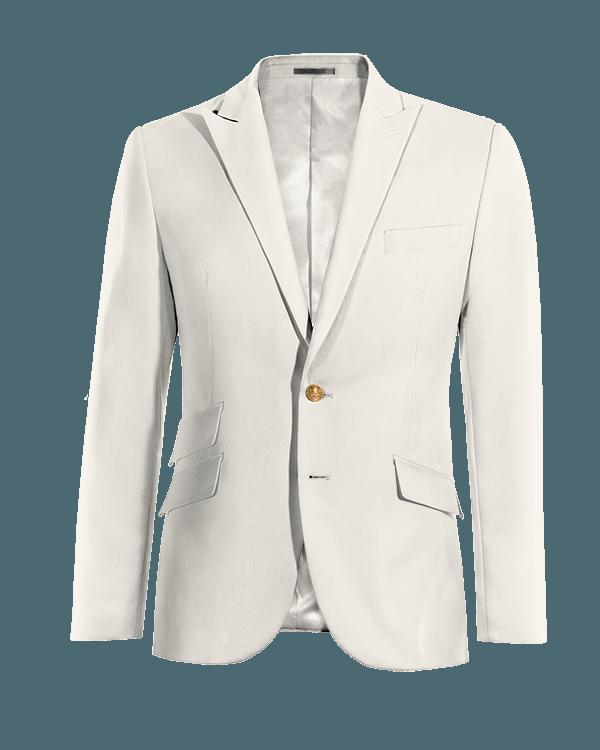 Weißes Sakko aus Wolle