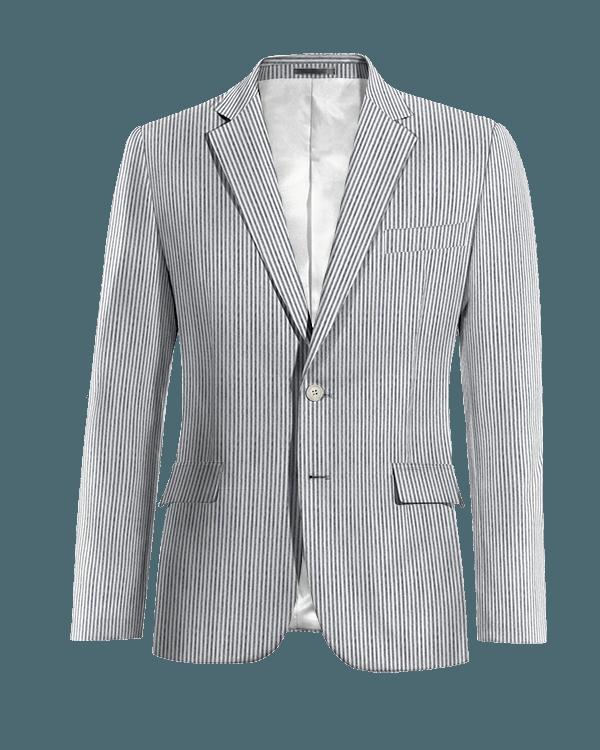 Blue striped seersucker Blazer