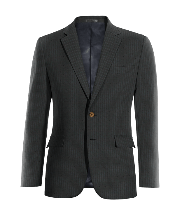 Blue striped wool Blazer