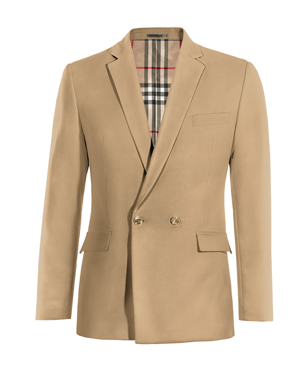 Brown double breasted cotton Blazer