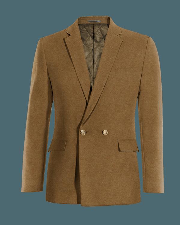 Braunes zweireihiges Sakko aus Baumwolle