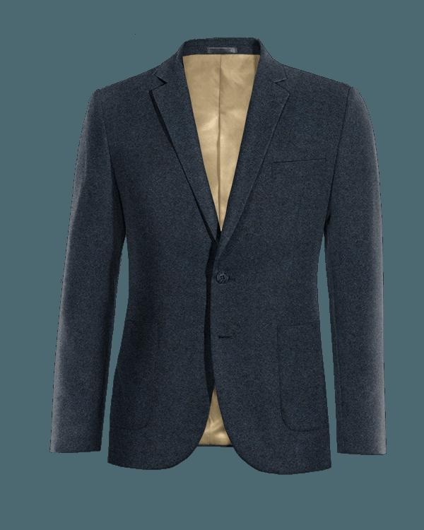 Veste bleue en tweed