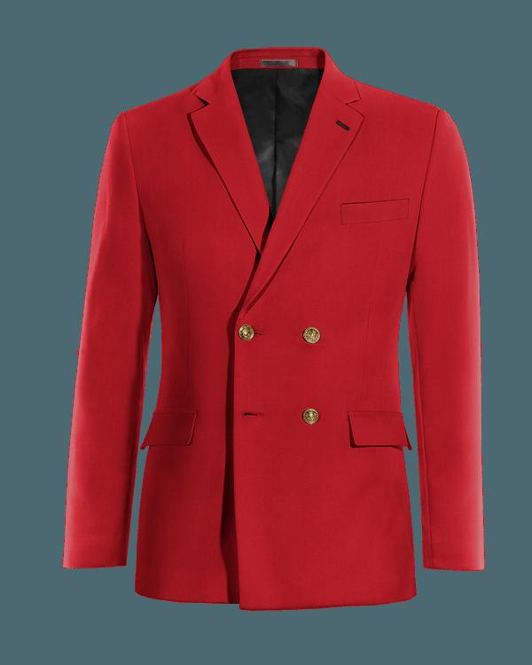 Rotes zweireihiges Sakko aus Wolle