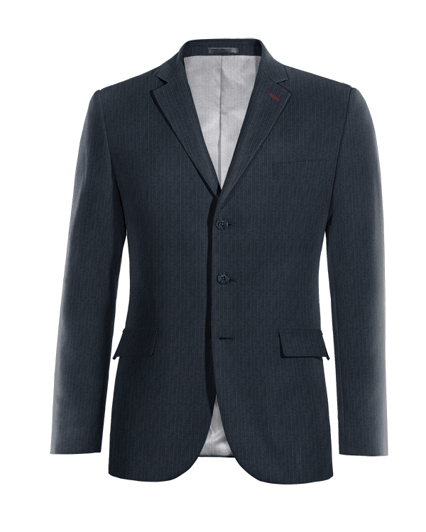 Blue striped Merino wool Blazer