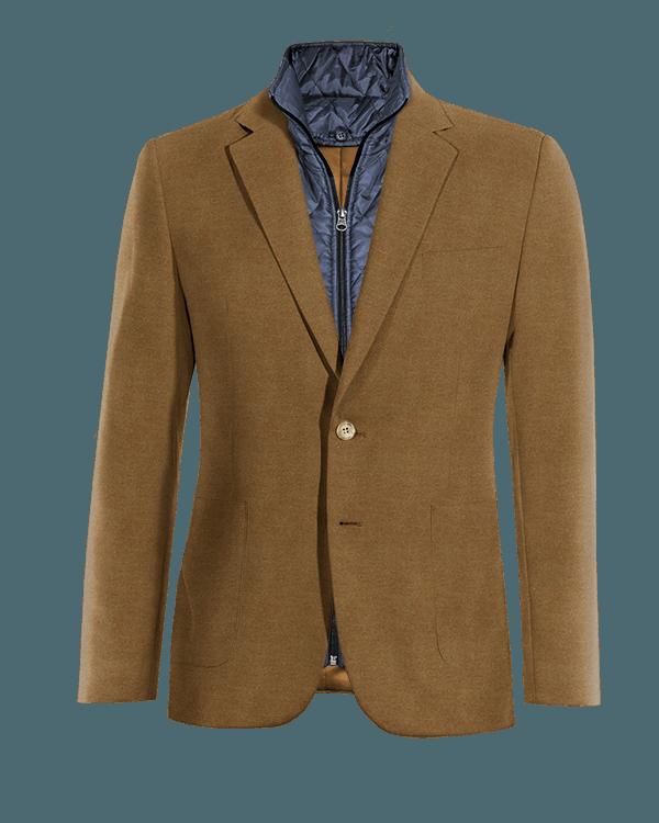 Veste marron en Coton avec gilet amoviblet
