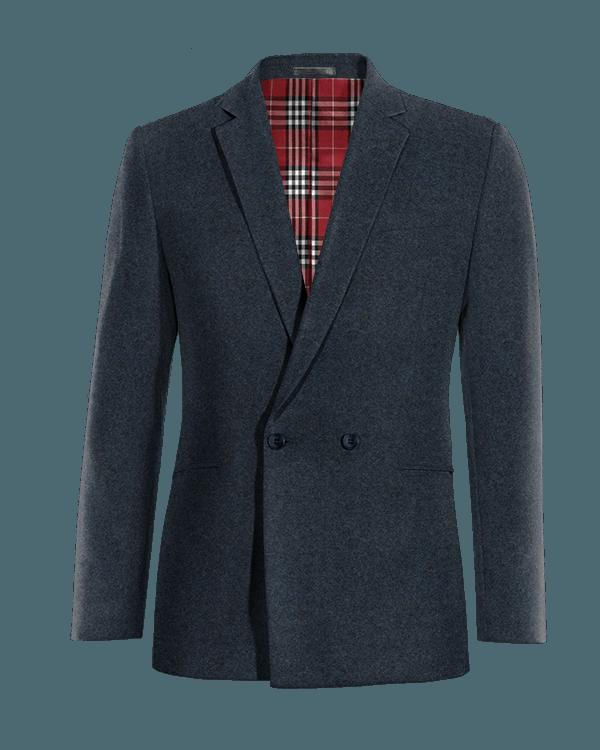 Veste bleue croisée en tweed