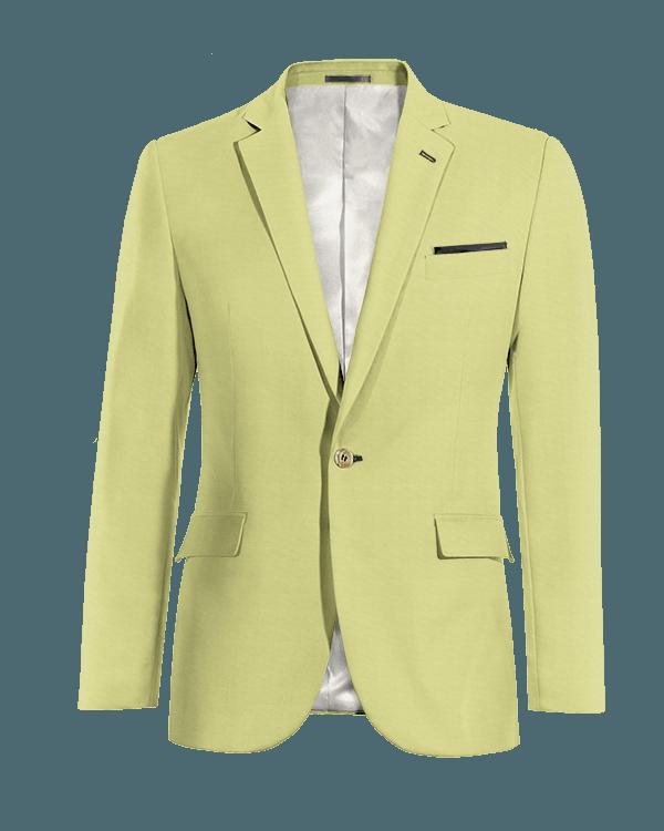 Blazer verde di Cotone