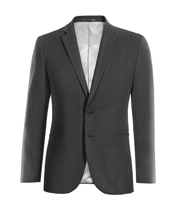 Grey striped wool Blazer