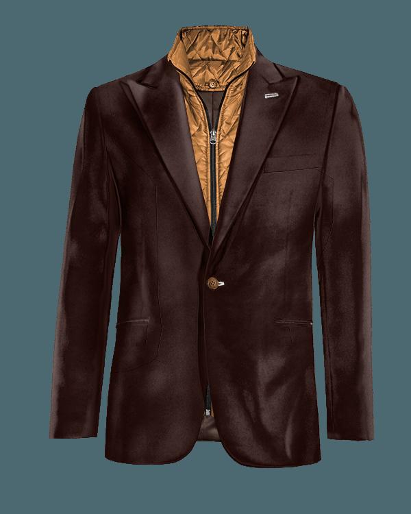 Giacca marrone di Velluto con Gillet Removibile