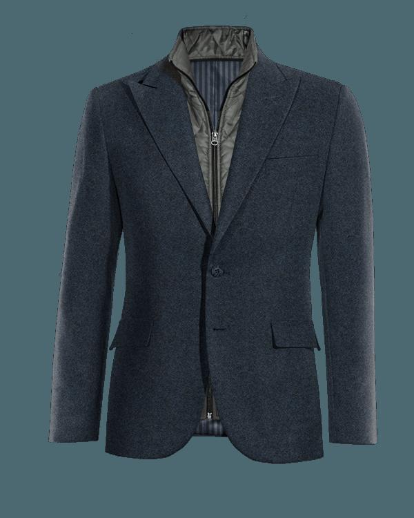 Blazer blu di tweed con Gillet Removibile