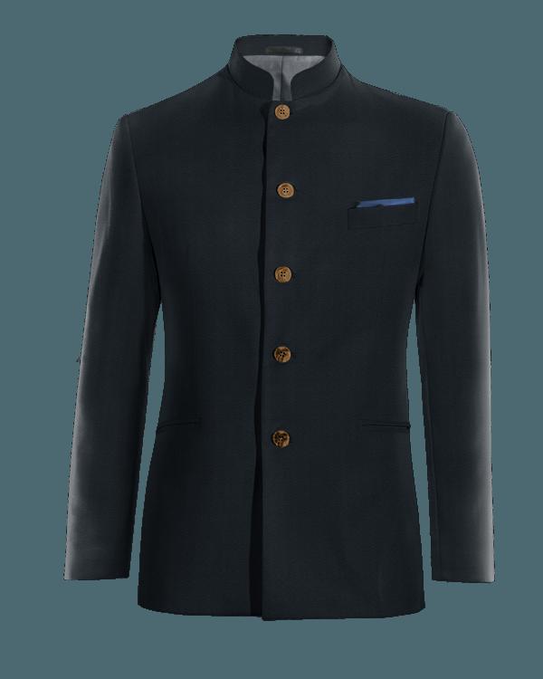 Giacca Mao blu 100% lana
