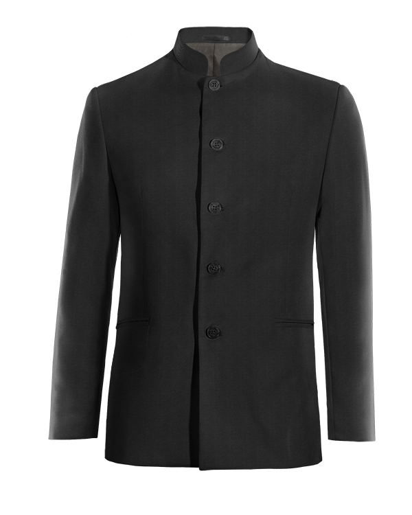 Black Nehru wool Blazer