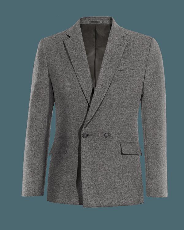 Veste grise croisée en Coton