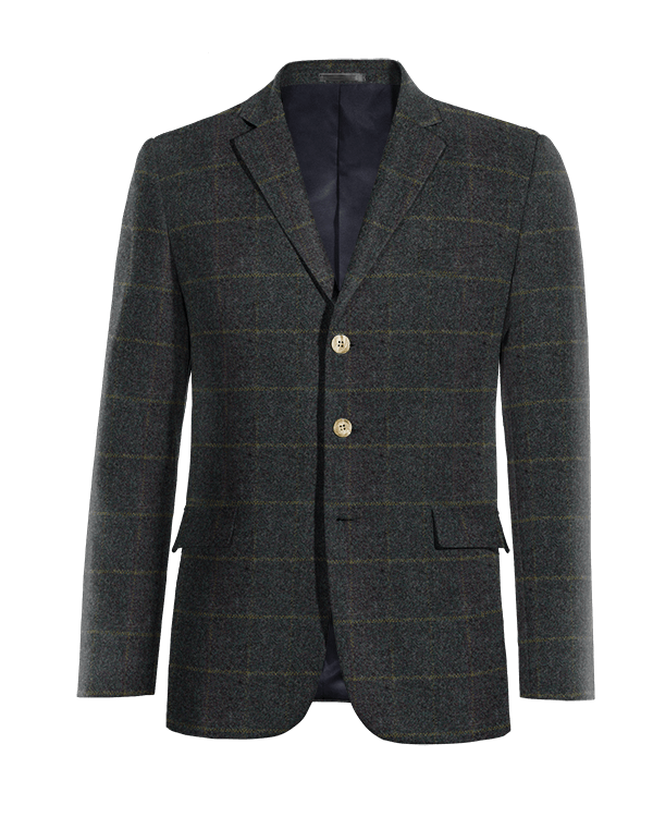 Blaues kariertes Sakko aus tweed